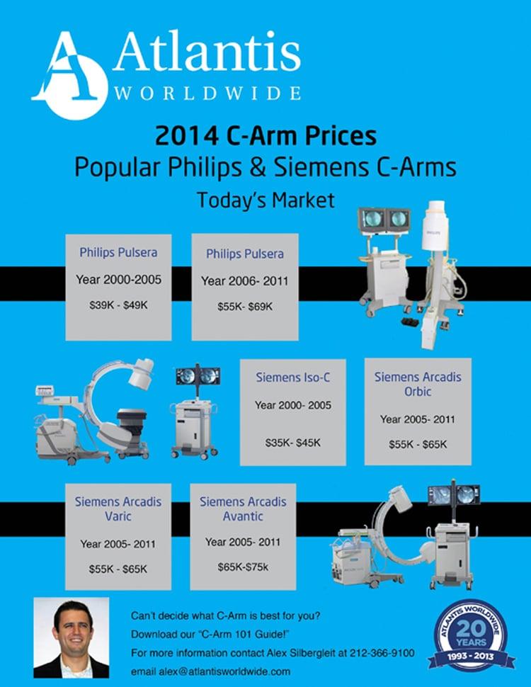 C-arm_prices for philip-Siemen 2014