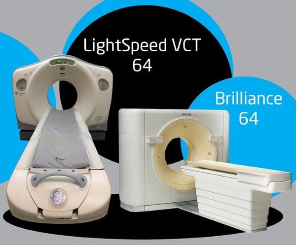 GE Lightspeed VCT 64 CT vs Philips Brilliance  64 CT