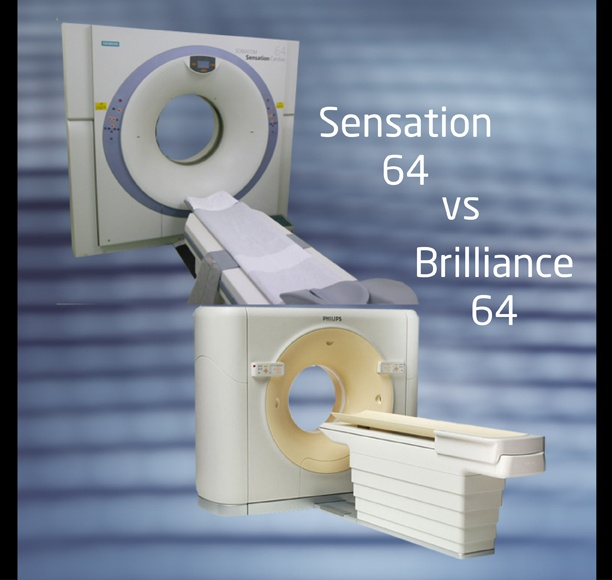 Siemens Sensation 64 CT vs Philips Brilliance  64 CT