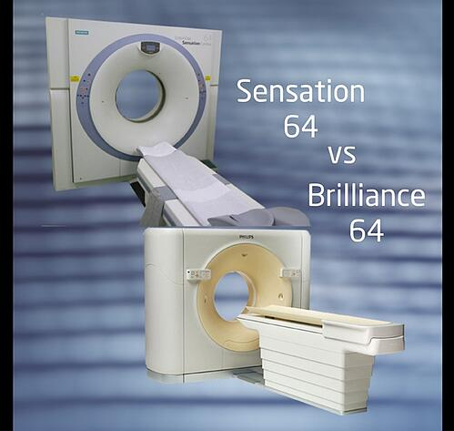 Siemens Sensation 64 CT vs Philips Brilliance  64 CT
